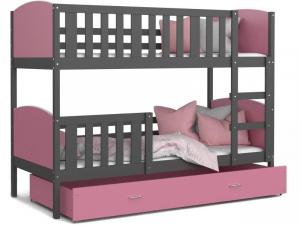 Patut tineret MyKids 2 in 1 Tami Color Grey/Pink-190x800