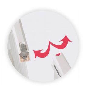 Poarta de siguranta prin presiune Waly 110-117 cm - Springos [2]