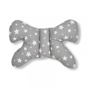 Set 5 piese Jukki Bebe rasfatat cosulet bebe, lenjerie, salteluta si perna bebe Grey stars [3]