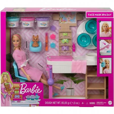 Set Barbie by Mattel Wellness and Fitness O zi la salonul Spa papusa cu figurina si accesorii [6]
