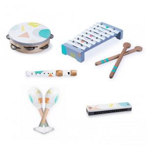 Set cu instrumente muzicale din lemn Ecotoys 3630 [0]