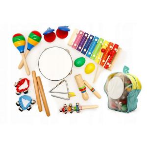 Set muzical din lemn Ecotoys MA01, 10 instrumente, Multicolor [0]