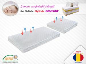 Set saltele MyKids Cocos Confort 120X70X10 50X70X10 Microfibra0