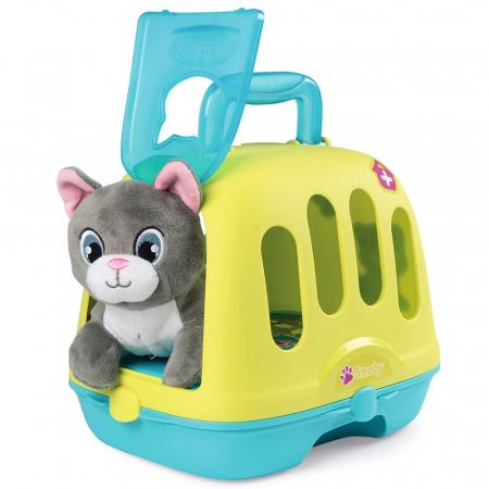 Set Smoby Veterinary Case pisica cu cusca de transport si accesorii [5]
