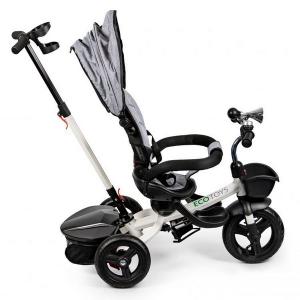 Tricicleta cu sezut reversibil Ecotoys JM-311 - Gri2