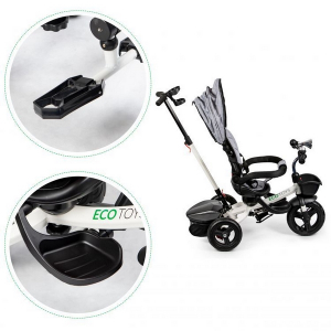 Tricicleta cu sezut reversibil Ecotoys JM-311 - Gri7