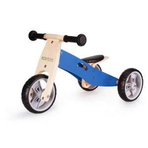 Tricicleta ECOTOYS YM-BB-01 cu pedale, 2 in 1 din lemn1