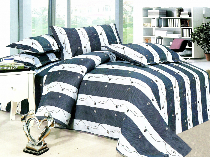 Lenjerie de pat , 1 persoana, 3 piese F01A-10e
