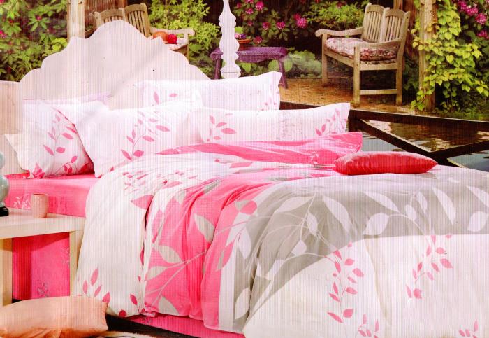 Lenjerie de pat din Bumbac Satinat multicolora 0