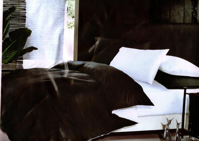 Lenjerie de pat din Bumbac Satinat pentru doua persoane cu patru piese F22-13 0