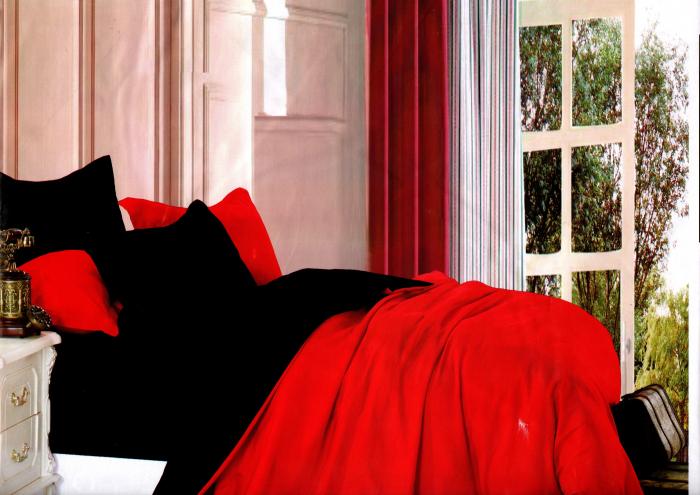 Lenjerie de pat din Bumbac Satinat pentru 2 persoane cu 4 piese - F22-17 0