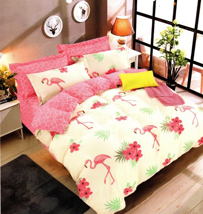 Lenjerie de pat din Bumbac pentru 2 persoane cu 4 piese 0