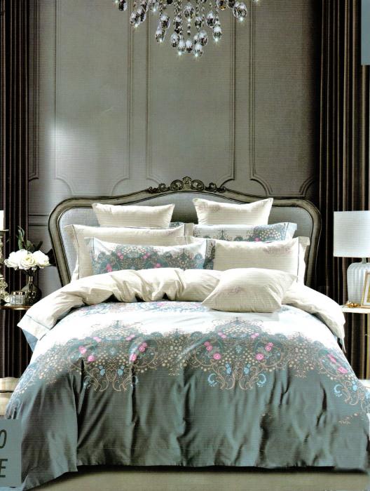 Lenjerie de pat din Finet gros multicolora F33-01 0