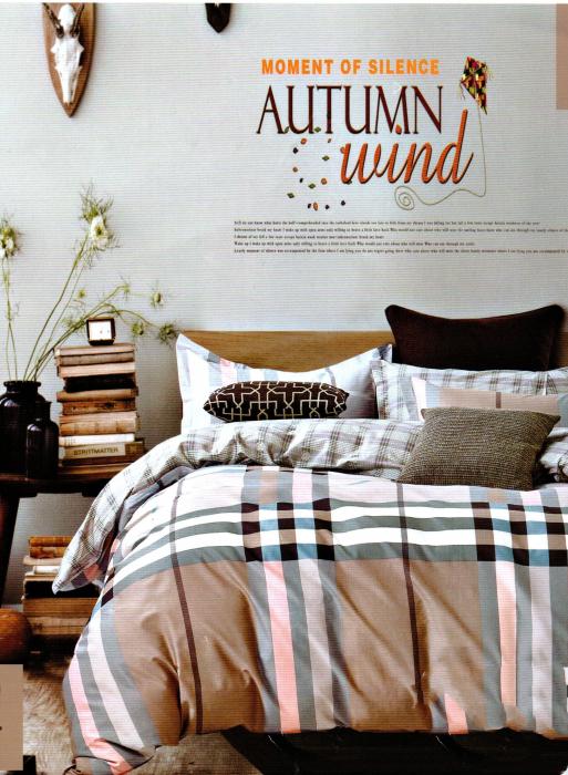 Lenjerie de pat din Finet gros multicolora cu dungi F33-02 0