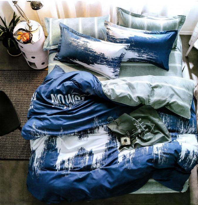 Lenjerie de pat din Bumbac Satinat / 6 piese / 2 persoane - F17-01 0