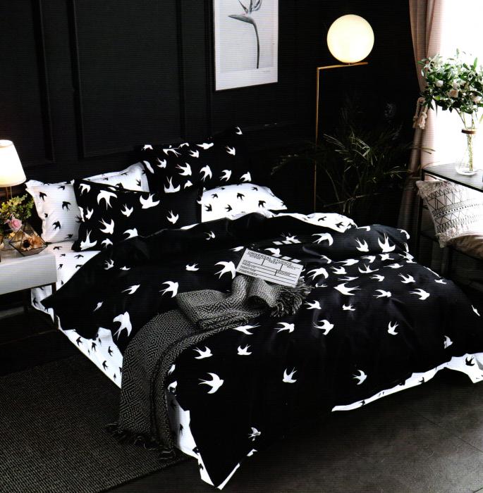 Lenjerie de pat din Bumbac Satinat / 6 piese / 2 persoane