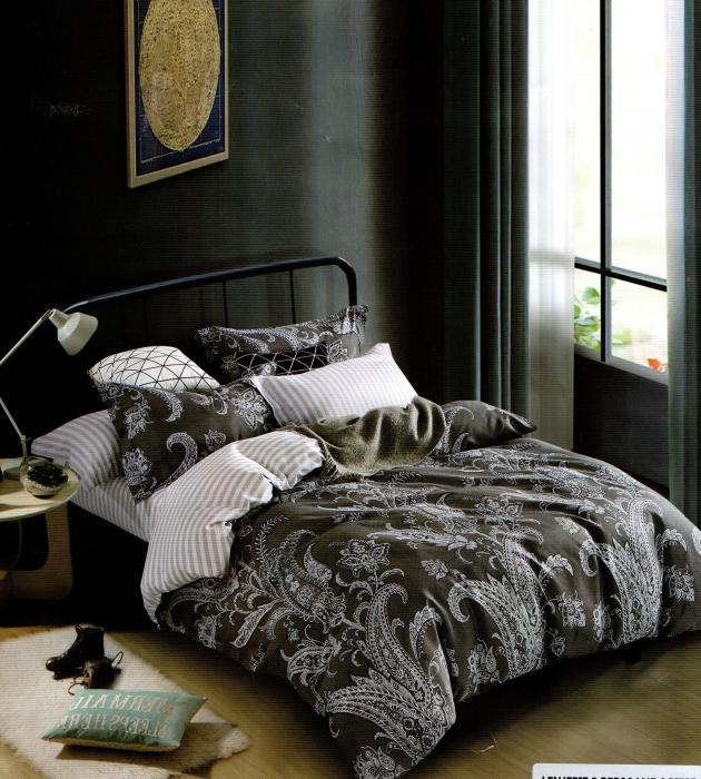 Lenjerie de pat din Bumbac Satinat cu 6 piese 0