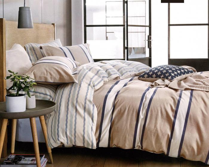 Lenjerie de pat din Finet satinat gros pentru 2 persoane cu 4 piese - F19-07 0