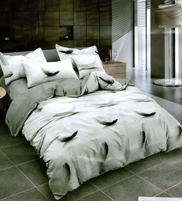 Lenjerie de pat din Bumbac Satinat / 6 piese / 2 persoane 0