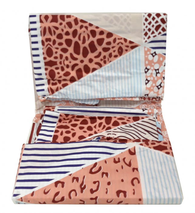 Lenjerie de pat cu figuri geometrice