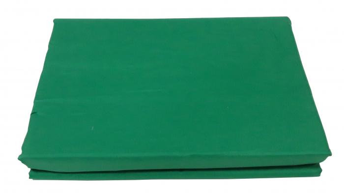 Lenjerie de pat din Bumbac Satinat de culoare verde cu galben 3
