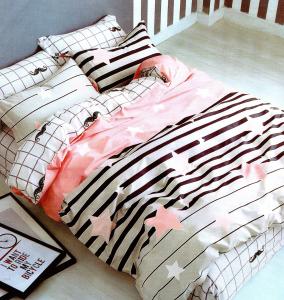 Lenjerie de pat din Microfibra pentru 2 persoane cu 4 piese F04-21