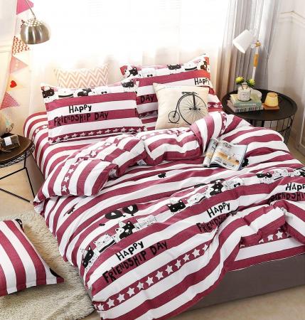 Lenjerie de pat din Bumbac Satinat / 2 persoane / 4 piese - F17A-361