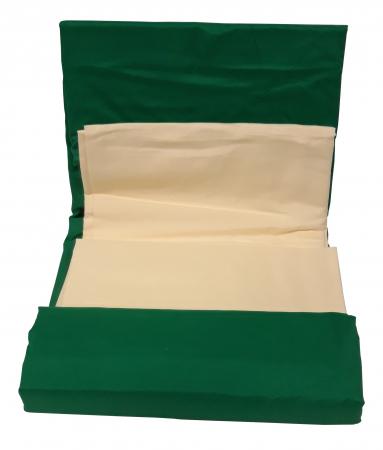Lenjerie de pat din Bumbac Satinat / 2 persoane / 4 piese - F22-112