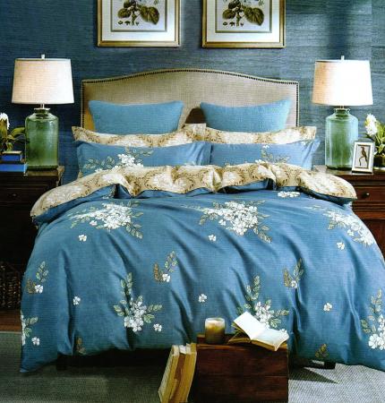 Lenjerie de pat din Microfibra pentru 2 persoane cu 4 piese-F04-34