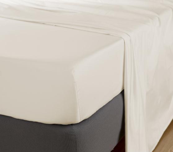 Cearceaf de pat cu elastic, 600TC - Ivory 0
