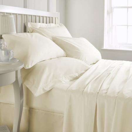 Cearceaf de pat ,Bumbac densitate 400TC - Ivory0