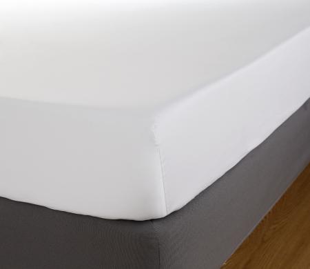 Cearceaf de pat cu elastic, 600TC -Alb0