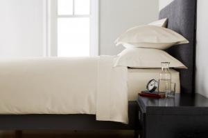 Cearceaf de pat, densitate 600TC - Ivory0
