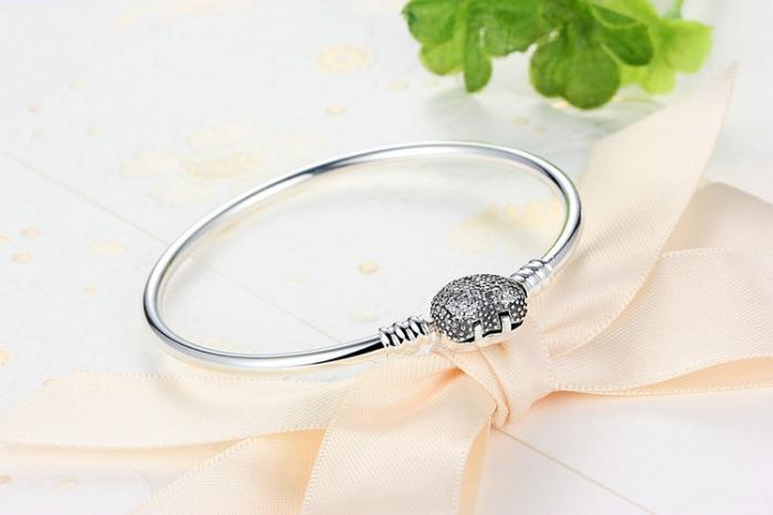 Bratara argint 925 cu inimioara Allways in my heart si zirconii albe - Be Elegant BST0015 3
