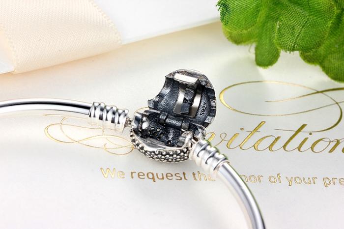 Bratara argint 925 cu inimioara Allways in my heart si zirconii albe - Be Elegant BST0015 4