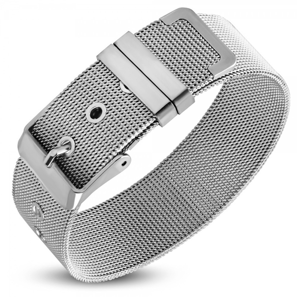 Bratara inox 18 mm latime model plasa - Shinny Mesh Bracelet 0