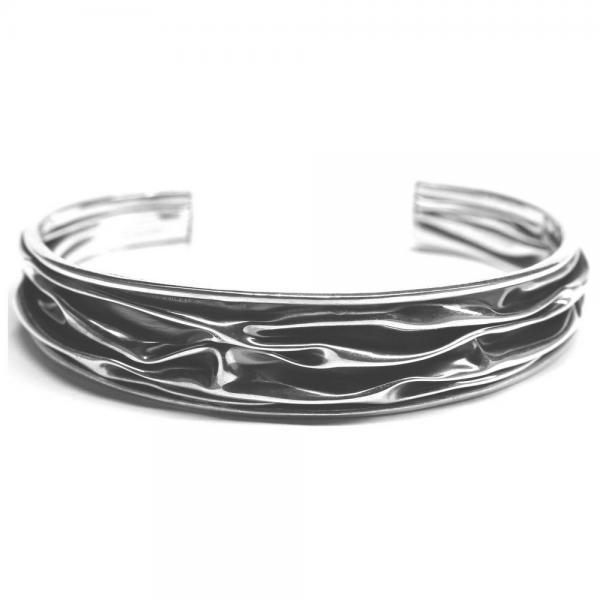 Bratara argint 925 eleganta cu valuri si aspect vintage 2