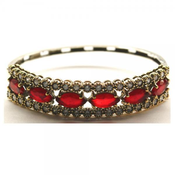 Bratara argint 925 eleganta cu zirconii rosii 0