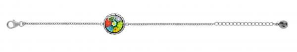 Bratara argint 925 rodiat cu sticla Murano autentica 1