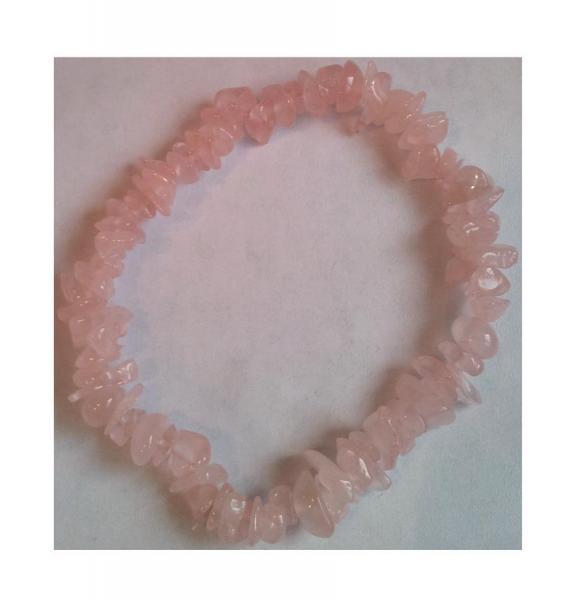 Bratara cu pietre semipretioase cuart roz 2