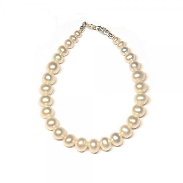 Bratara eleganta cu perle naturale si argint 0