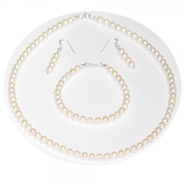 Bratara eleganta cu perle naturale si argint 2