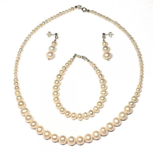Bratara eleganta cu perle naturale si argint 1