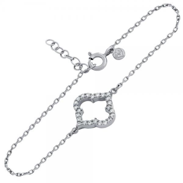Bratara eleganta din argint 925 rodiat cu zirconii 0