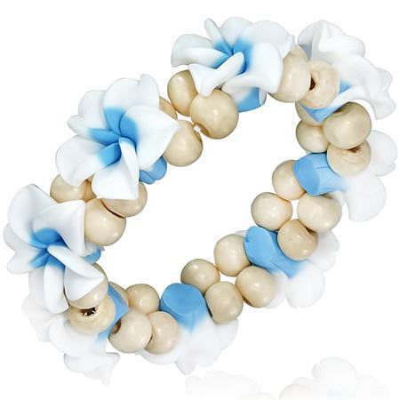 Bratara fantezie cu trandafiri albi 0