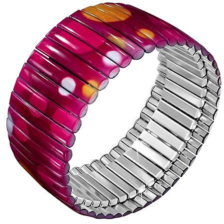 Bratara roz elastica din inox 0