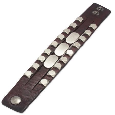Bratara piele maro cu accesorii metalice [1]