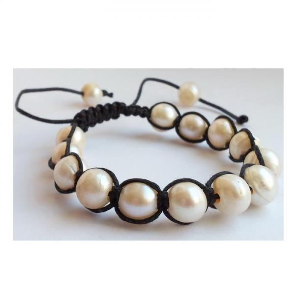 Bratara shamballa cu perle naturale 0