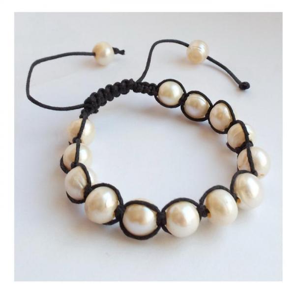 Bratara shamballa cu perle naturale 1