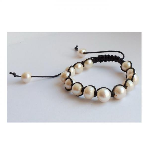 Bratara shamballa cu perle naturale 2